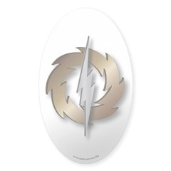 Thunder Wheel Sticker (Oval 50 pk.)