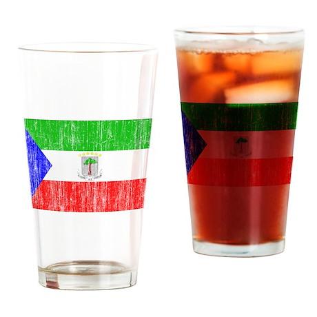 Equatorial Guinea Flag Drinking Glass