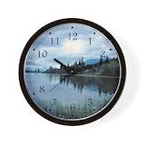 Cabin scenery Wall Clocks