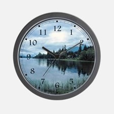 Lake Storm Wall Clock