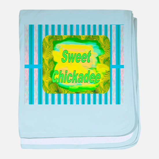 Maternity~Sweet Chickadee baby blanket