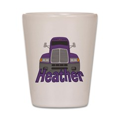 Trucker Heather Shot Glass