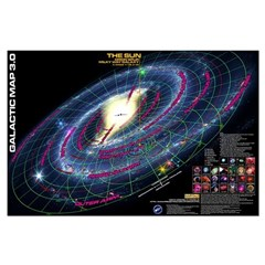 Galactic Map 3.0 Posters
