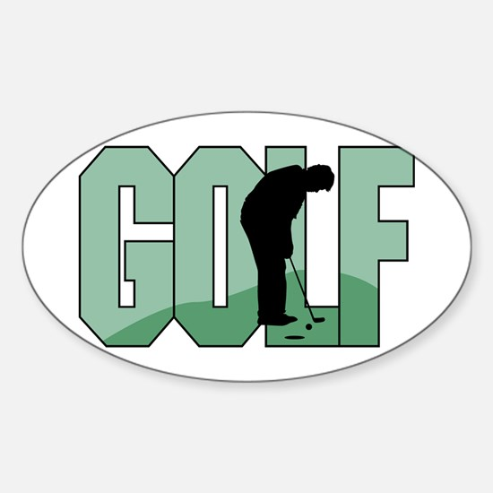 Golf16 Oval Decal