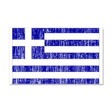 Greece Flag Car Magnet 20 x 12