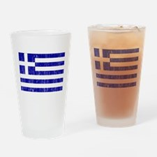 Greece Flag Drinking Glass