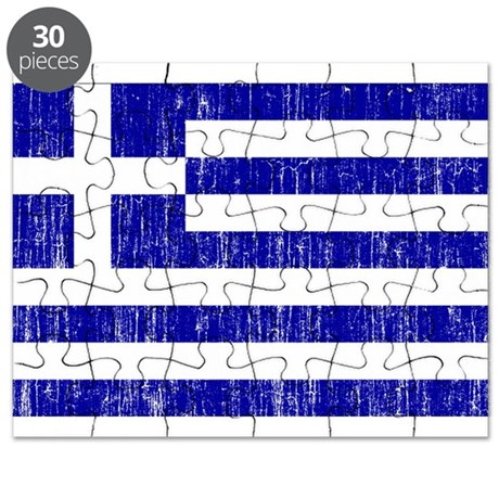 Greece Flag Puzzle by AgedFlags