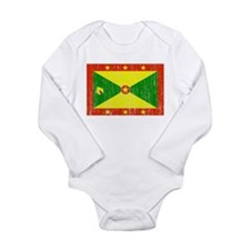 Grenada Flag Long Sleeve Infant Bodysuit