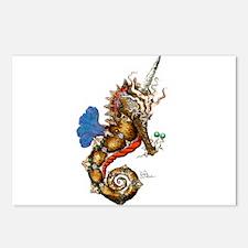Unicorn Pegasus Seahorse Postcards (Package of 8)
