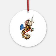 Unicorn Pegasus Seahorse Ornament (Round)