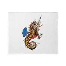 Unicorn Pegasus Seahorse Throw Blanket