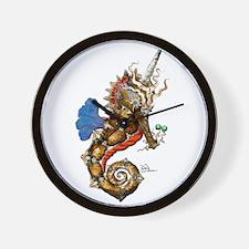 Unicorn Pegasus Seahorse Wall Clock