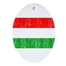 Hungary Flag Ornament (Oval)