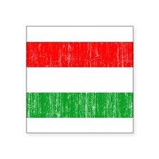 "Hungary Flag Square Sticker 3"" x 3"""