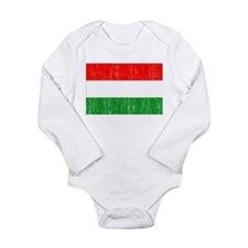 Hungary Flag Long Sleeve Infant Bodysuit