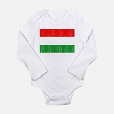 Hungary Flag Long Sleeve Infant Bodysuit
