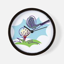 Golf24 Wall Clock