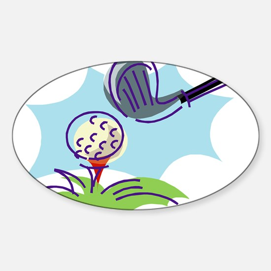 Golf24 Oval Decal