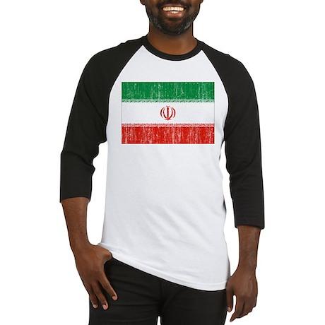 Iran Flag Baseball Jersey