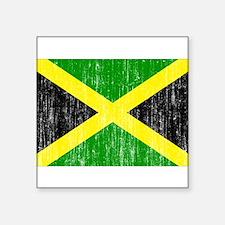 """Jamaica Flag Square Sticker 3"""" x 3"""""""