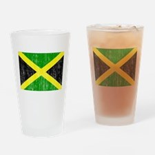 Jamaica Flag Drinking Glass