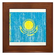 Kazakhstan Flag Framed Tile