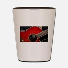 The Red Guitar Shot Glass