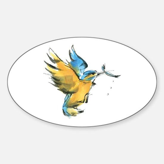 kingfisher Sticker (Oval)