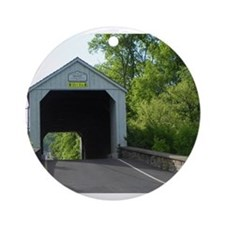 Mood's Covered Bridge Ornament (Round)