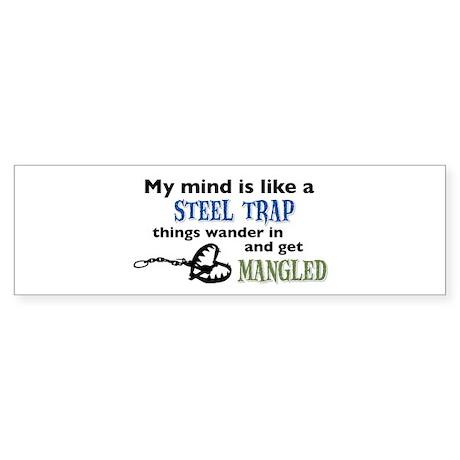 Steel trap Sticker (Bumper)