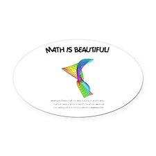 beautiful_12.jpg Oval Car Magnet