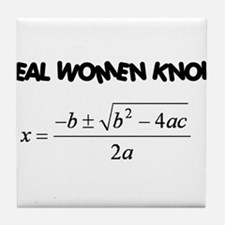Real Women Tile Coaster