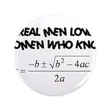 """Real Men 3.5"""" Button"""