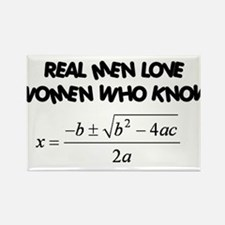 Real Men Rectangle Magnet