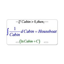 Houseboat Aluminum License Plate