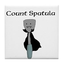 Count Spatula Tile Coaster
