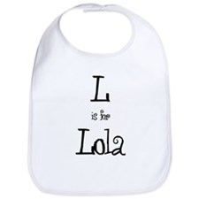 L Is For Lola Bib