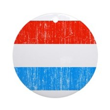 Luxembourg Flag Ornament (Round)