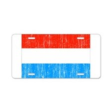 Luxembourg Flag Aluminum License Plate