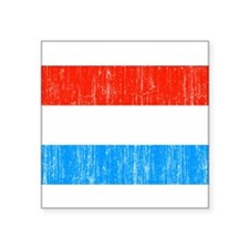 "Luxembourg Flag Square Sticker 3"" x 3"""
