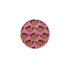Monkey Girls Mini Button (10 pack)