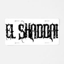 El Shaddai Aluminum License Plate