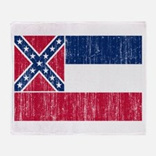 Mississippi Flag Throw Blanket