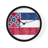 Unites states flag and map Basic Clocks