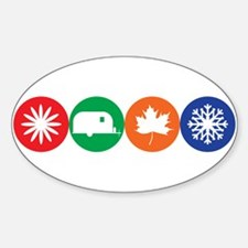 Airstream Season Sticker (Oval)
