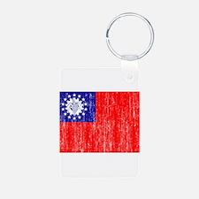 Myanmar Flag Keychains