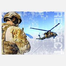 Military Grunge Poster: Respect. A pararescueman a