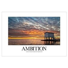 Inspirational Poster: Where there is passion and d Framed Print