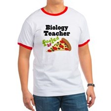 Biology Teacher Funny Pizza T