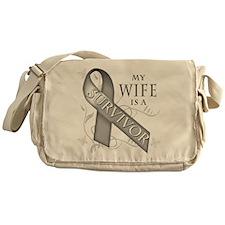 My Wife is a Survivor (grey).png Messenger Bag